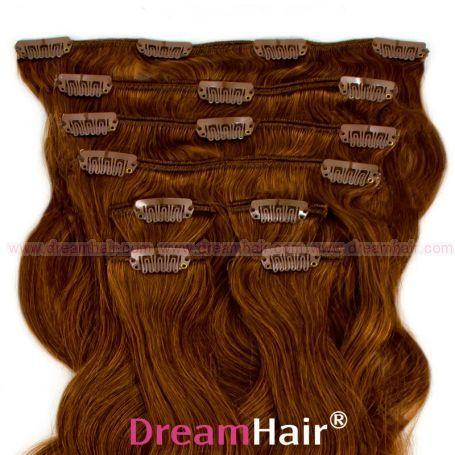 Clip-In Hair Extension 8pcs Wave 40cm 6#