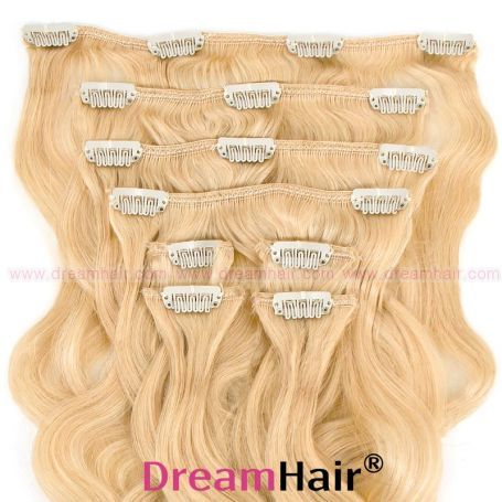 Clip-In Hair Extension 8pcs Wave 40cm 613#