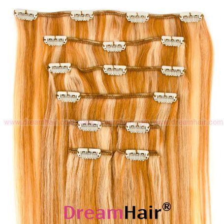 Clip-In Hair Extension 8pcs 40cm P27/613#