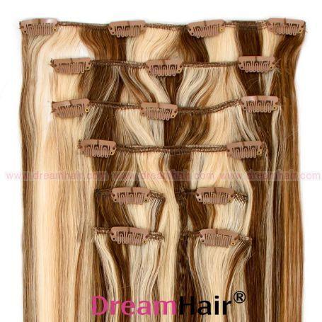 Clip-In Hair Extension 8pcs 40cm P6/60#