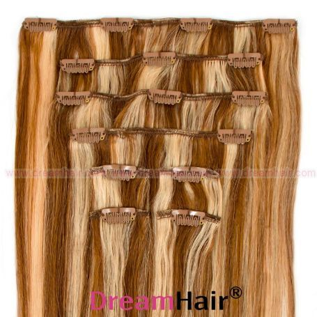 Clip-In Hair Extension 8pcs 50cm P8/24#