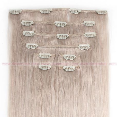 Clip-In Hair Extension 8pcs 40cm Whiteblond#