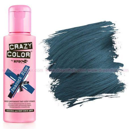 Crazy Color Peacock Blue #45