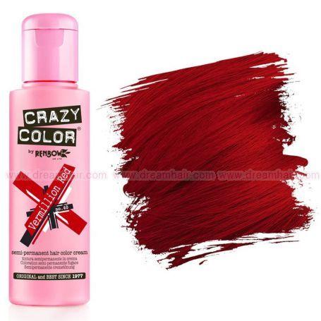 Crazy Color Vermillion Red #40