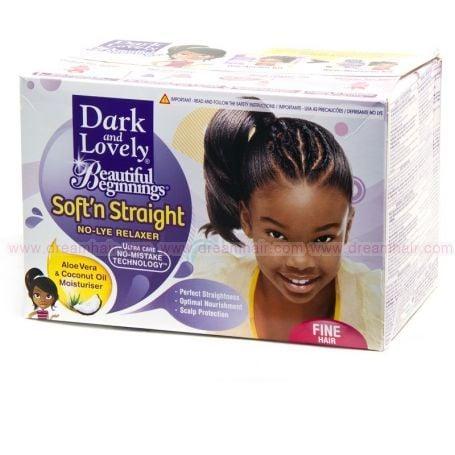Dark and Lovely Softsheen Beautiful Beginnings No-Lye Relaxer Fine Hair