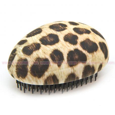 Mini Detanglert Brush Rubberized Leopard