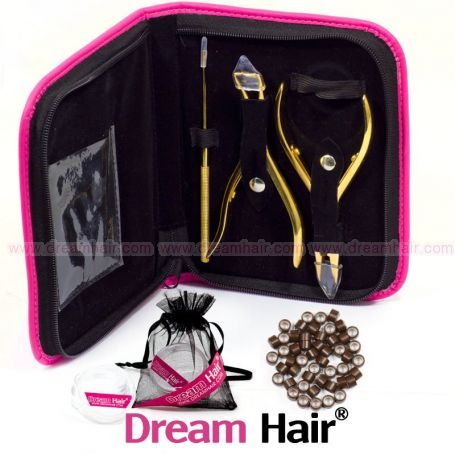 DreamHair® Micro Ring Kit Ruskea