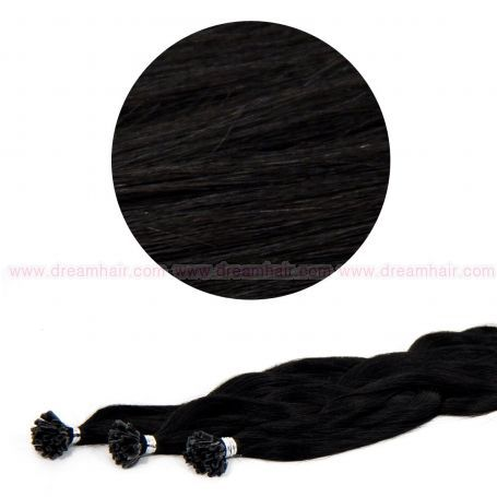 Nail Tip Hair Extension L-Wave 40cm 25kpl 1#