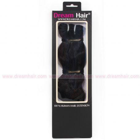DreamHair Natural Indian Hair Weft Straight 35cm