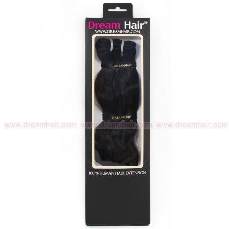 DreamHair Natural Indian Hair Weft Straight 40cm