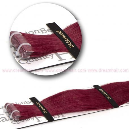DreamHair Slavic Tape-In Extension 40cm Sause RED#
