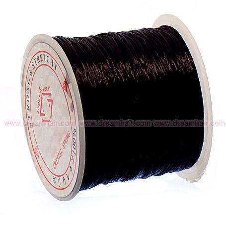 Elastinen Crystal String Lanka Black