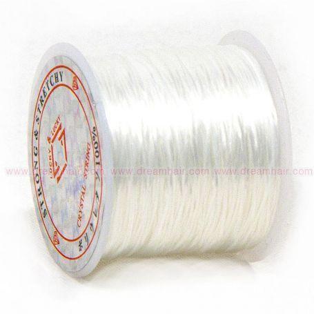 Elastinen Crystal String Lanka White