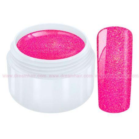 Glitter Color Gel Pink Star