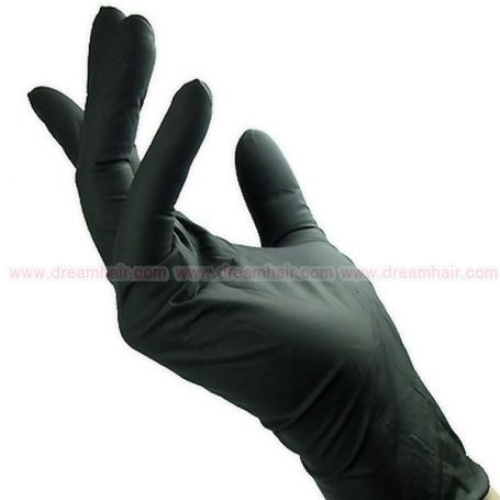 Latex Gloves Black 100 pcs Size L