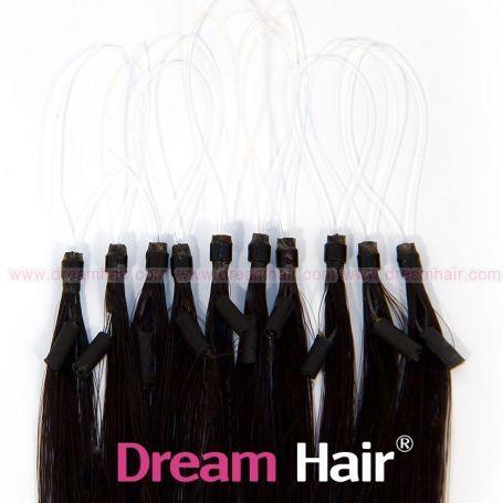 Micro Loop European Hair Extension 40cm 1B#