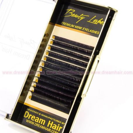 Premium Mink Eyelashes D-Curl 0.12T / Mix 9-16mm