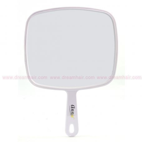 Hand Mirror for Salon White