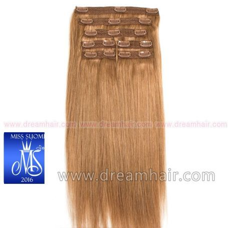 Luxury Clip-In Hair Extension Miss Finland Edition 200g/50cm 12#
