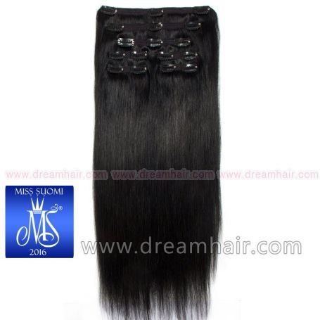 Luxury Clip-In Hair Extension Miss Finland Edition 200g/50cm 1#