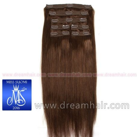 Luxury Clip-In Hair Extension Miss Finland Edition 200g/50cm 4#