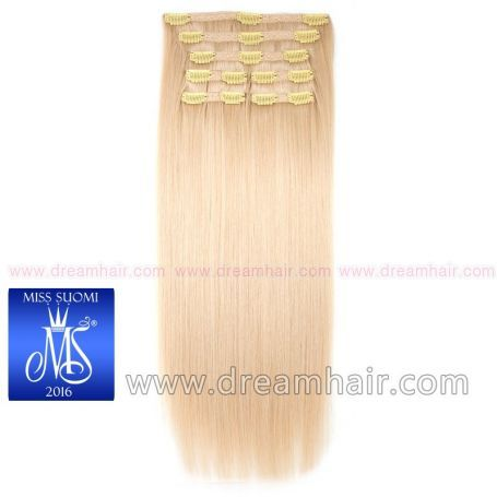 Luxury Clip-In Hair Extension Miss Finland Edition 200g/50cm 60#