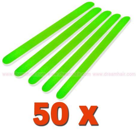 Professional File Straight Neon Green 180/240 50pcs pack