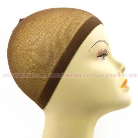 Wig Cap Brown 2pcs