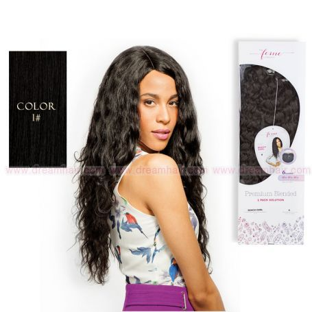 Premium Blended French Body Weave & Closure 1#
