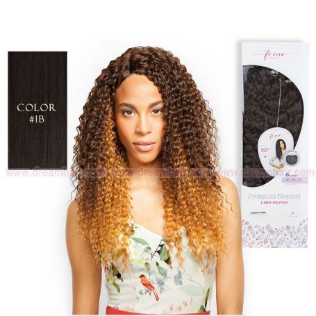 Premium Blended Kinky Curl Weave & Closure 1B#