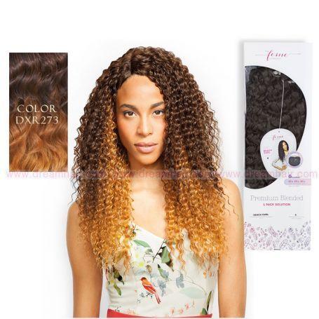 Premium Blended Kinky Curl Weave & Closure DXR273#