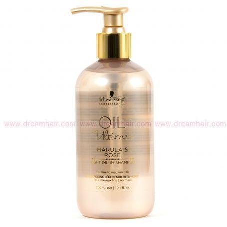 Schwarzkopf Oil Ultime Marula & Rose Light Oil In Shampoo