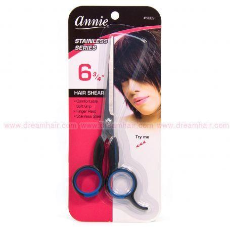 """Annie Hair Cutting Scissors 6.75"""" Black"""