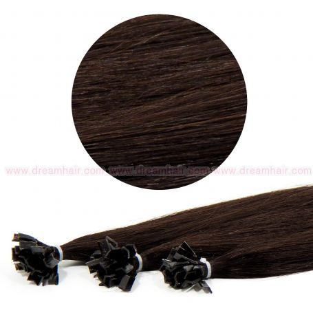 Nail Tip Hair Extension 70cm / 25pcs / 25g / 1B#