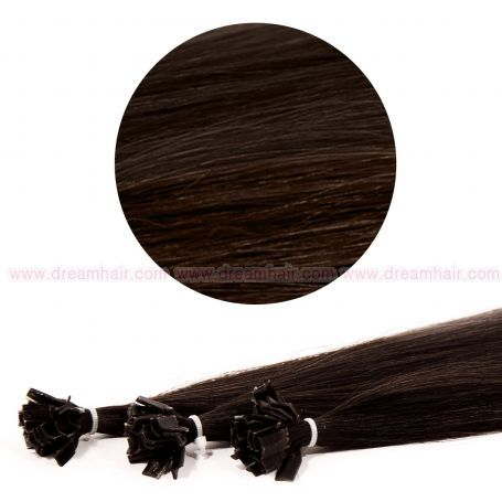 Nail Tip Hair Extension 60cm 2#