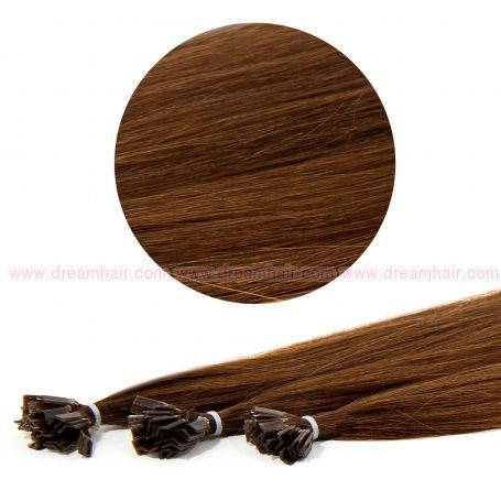 Nail Tip Hair Extension 50cm 25kpl 4#