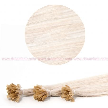 Nail Tip Hair Extension 50cm 25kpl Platinablond 60#