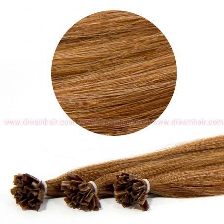 Nail Tip Hair Extension 40cm 25kpl 8#