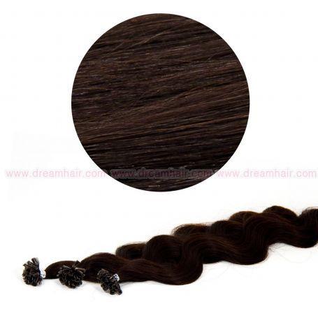 Nail Tip Hair Extension B-Wave 50cm 1B#