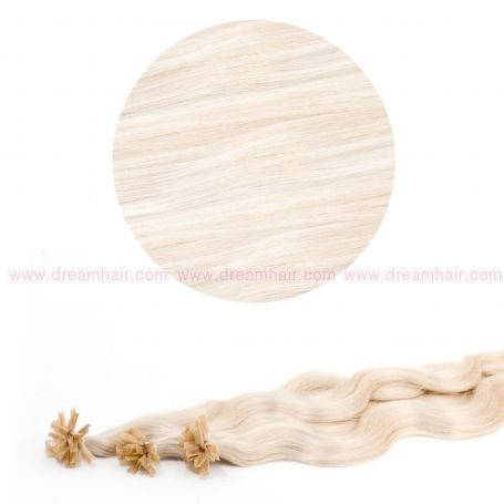 Nail Tip Hair Extension B-Wave 50cm Platinablond 60#