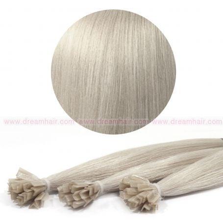 Nail Tip Hair Extension 30cm 25kpl Grey#