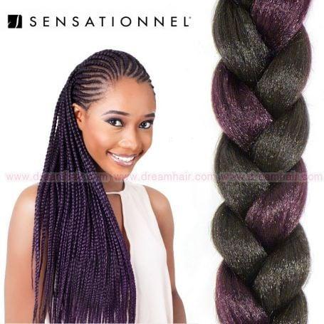 X-Pression Ultra Braid #1B/Purple