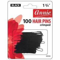 Invisible Hair Pins Black 100 pcs / 45mm