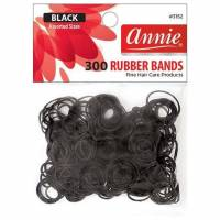 Rubber Bands Black Assorted Sizes 300pcs