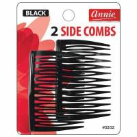 Side Combs (M) Black 2ct