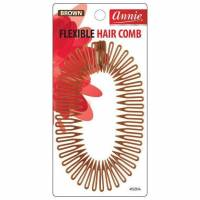 Flexible Hair Comb Brown