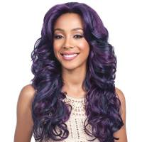 Bobbi Boss Lace Front Wig MLF199 Black Pearl OL/RSBERRY