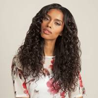 100% Virgin Brazilian 4x4 Closure, Spanish Wave / 30cm / #Natural Dark