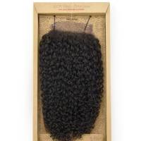 100% Virgin Brazilian 4x4 Closure, Jerry Bohemian / 30cm / #Natural Dark