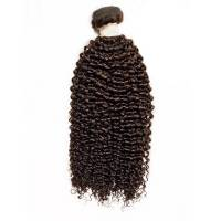 100% Virgin Brazilian Hair Weft, Jerry Bohemian / 35cm / #Natural Dark